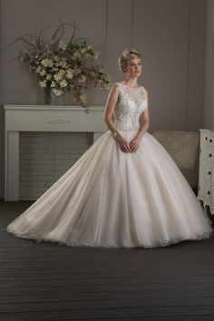 Bonny Classic 401 Beaded Ball Gown Wedding Dress
