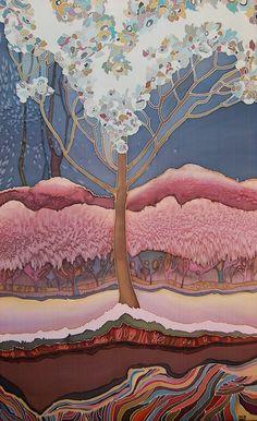 Art of Silk Painting by Irina Dorofeeva | Landscapes