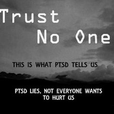PTSD CPTSD I read this and pin this yet it's still a costant fear for me. I don't even make an effort to make friends because the fear is so real to me. I don't have relationships with my cousins and the few friends I do have I keep at a distance.