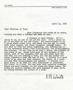 """One of 97 """"Letters to the Children of Troy,"""" to celebrate the opening of the new Troy Public Library on 510 West Big Beaver in 1971. (Letter is dated April 14, 1971.)"""