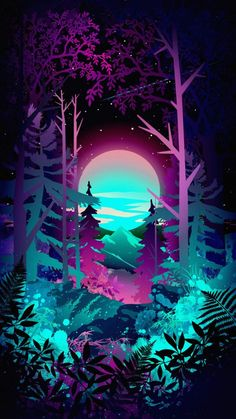 Amoled Forest IPhone Wallpaper - IPhone Wallpapers