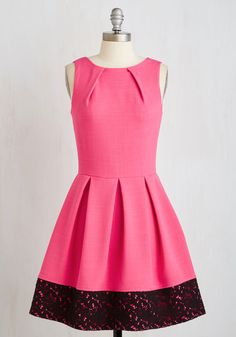 PROMO SIA: V: Luck Be a Lady Dress in Punch and Lace, #ModCloth