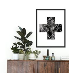 Plants and art prints.