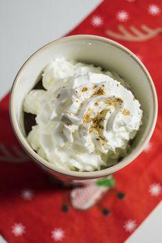 Hot chocolate with banana.