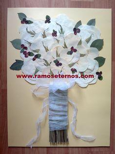 Conserva tu tamo de novia para siempre en Chile con www.ramoseternos.com Servicio de preservado y enmarcado de flores Fono 92295249 Movistar