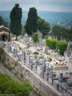 Cemetary in St Paul de Vence, France by Sofia.Art