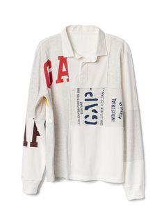 Gap Mens Logo Remix Long Sleeve Rugby Shirt New Heather Grey Metro Boomin, Long Sleeve Rugby Shirts, Gap Logo, Graphic Sweatshirt, T Shirt, Work Wear, Sweatshirts, Sleeves, Sweatshirt