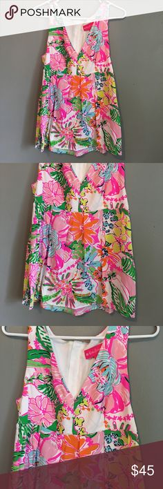 Lilly Pulitzer for Target  Nosey Posie Tank Size M New With Tags. Lilly Pulitzer for Target tank, size M. Shell 100% Rayon, Lining 100% Rayon. Beautiful tank, with different colors. great for summer! Rare find. Feel free to make a reasonanle offer. No trades. Lilly Pulitzer for Target Tops
