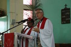 LWF's Rev. Dr Martin Junge delivering a sermon in Tanzania. #Day281 until the Twelfth Assembly. #Assembly365