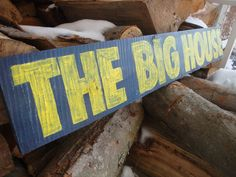 Wolverines Michigan Sign by SignUpNow on Etsy, $20.00