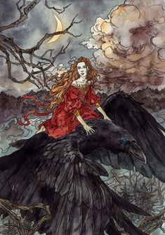 A different world Dark fairytales illustrations by Latvia based artist Liga Klavina Cinderella Enmeshed in nan elmoth Parting is always sad Legolas Left The Ancient Magus, Winter Fairy, Fairytale Art, Fairytale Drawings, Witch Art, Fantasy Art, Dark Fantasy, Character Art, Book Art