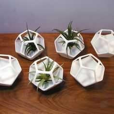 futurist terrarium geometric art planter by MeshCloud on Etsy