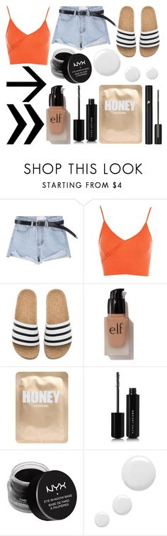 """Shopping Day"" by susanna-trad ❤ liked on Polyvore featuring Topshop, adidas, e.l.f., Lapcos, Marc Jacobs, NYX and Lancôme"