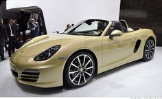 new porsche boxster s... not even going to lie, I actually like the color. HA