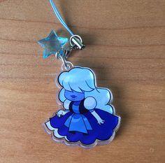 Steven Universe Sapphire 1.5 Clear Acrylic Charm by Rumminov