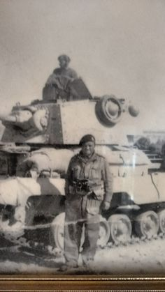 Libya December 1940 tank. My great grandfather is the guy in the tank. The other guy is called John Lear. It's an A10 Mk.II.