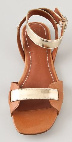 Elizabeth and James Paige Flat Metallic Sandals