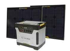 Goal Zero Yeti Solar Generator ($1,800): This silent generator charges up its 1250 Watt Hour battery in just 24 hours using the dual included solar panels, which allows it to power critical appliances like refrigerators and AC units while also charging up your gadgets with three USB ports, all without the nasty fumes and miserable sound associated with traditional gas generators.
