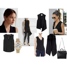 Black Sleeveless tops/vests by natalie13-14 on Polyvore featuring J Brand, 3.1 Phillip Lim, Alexander Wang and Michael Kors