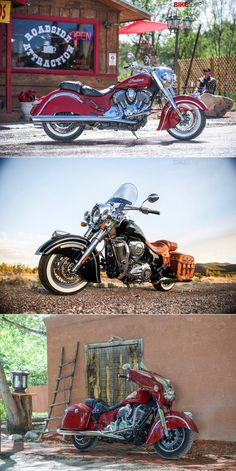 Here's a first look at the 2014 Indian Motorcycles—from top, the Classic, Vintage and Chieftain. Do you think they'll tempt cruiser riders away from Harley-Davidson? Head over to our Google+ page for details on the individual bikes: https://plus.google.com/u/0/b/101554244823678290874/101554244823678290874/posts/Xr5c9VDxiv6