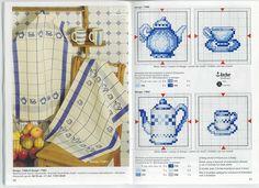 Tiny Cross Stitch, Cross Stitch Kitchen, Cross Stitch Charts, Cross Stitch Patterns, Embroidery Art, Cross Stitch Embroidery, Rico Design, Monochrom, Embroidery Techniques