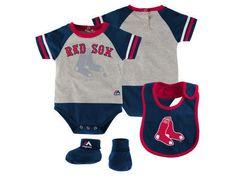 Boston #RedSox Majestic #MLB Newborn Lp Creeper Bib And Bootie Set (6 - 9 Months) from $26.95