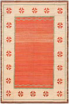 Vintage Scandinavian Swedish Kilim 47144 Main Image - By Nazmiyal  http://nazmiyalantiquerugs.com/antique-rugs/rug/vintage-scandinavian-swedish-kilim-47144/