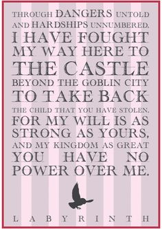 Labyrinth Sarah Movie Quote Stretched Canvas by Ms. Farquharson | Society6