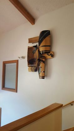Art piece made from wine barrels