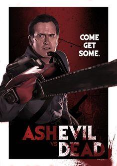 Ash vs. Evil Dead by ChristopherOwenArt.deviantart.com on @DeviantArt