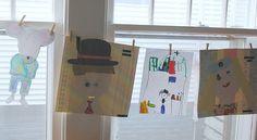 Clothesline Display for Little's Artwork