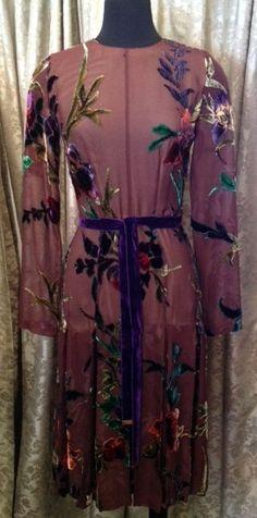Tom Ford Silk and Velvet Floral Dress AW11 NWT Sz 6