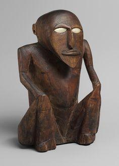 Seated Figure, late 19th–early 20th century Satawan Island, Caroline Islands
