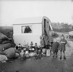 Irish gypsies in Anglesey by Geoff Charles, (1963)