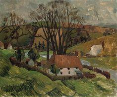Christopher Wood, Cottage at Broadchalke, Wiltshire