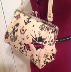 Sailor Jerry Style Tattoo Purse Kiss Lock Rockabilly Pinup Retro Psychobilly | eBay sold for $28.42