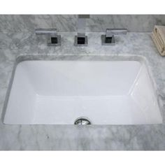 get a square undercount sink and have them installed on quartz counter top........RYVYR Undermount Bathroom Sink in White-CUM183RWT - The Home Depot