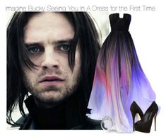 Imagine Bucky Seeing You In A Dress for the First Time by fandomimagineshere on Polyvore featuring polyvore мода style Giuseppe Zanotti Elie Saab fashion women's clothing women's fashion women female woman misses juniors