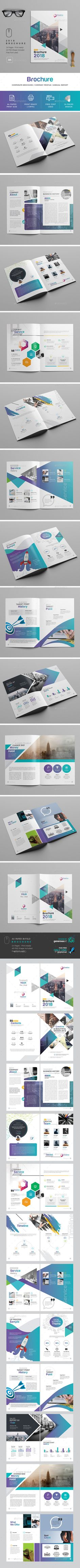 2018 Brochure — Photoshop PSD #case study #startup • Available here ➝ https://graphicriver.net/item/2018-brochure/20844631?ref=pxcr
