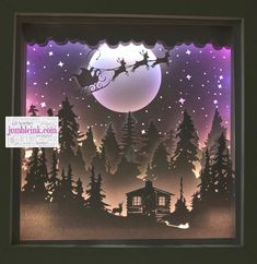 Shadow Light Box, Shadow Box Art, Shadow Box Frames, Cabin Christmas, Christmas Paper, Christmas Projects, Xmas, Fun Projects, Project Ideas