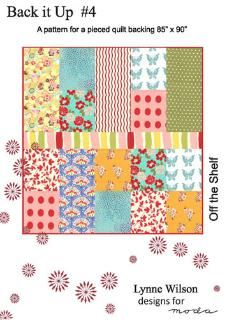 Pattern for a pieced quilt backing to remind me that backing can be pieced.