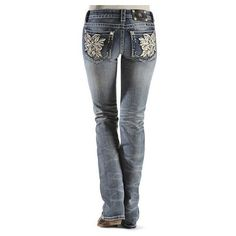 Miss Me Paisley Embellished Floral Applique Jeans ($109) ❤ liked on Polyvore featuring jeans, trousers, pants, floral jeans, cowgirl jeans, studded jeans, embroidered jeans and cowboy jeans