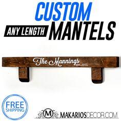 RUSTIC MANTEL - Purchase Custom Mantel - Free Shipping Nationwide
