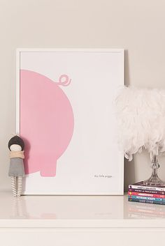This little piggy print kids prints kids posters by LilSpaces