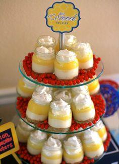 baby jar cupcakes | Lemon Cheesecake Shooters served in baby food jars. I knew deep down I ...
