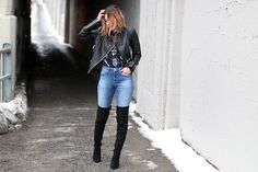 Get this look: http://lb.nu/look/8586829 More looks by Anik L.R.: http://lb.nu/aniklacasse Items in this look: Rudsak Leather Jacket, Mavi Jeans, Aldo Boots #chic #edgy #street