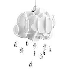 Cloud & Rain Drops Ceiling Light Pendant Shade, White