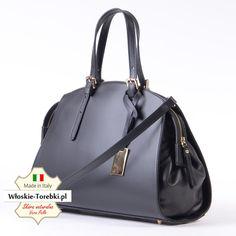 0e9bd61938c37 Nowość - kuferek Sandretta - damska torebka produkcji włoskiej z naturalnej  licowej czarnej skóry najwyższej jakości