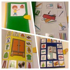 Nuestro libro de vocabulario. Lo podéis encontrar en arasaac con el título ¿dónde lo guardo?