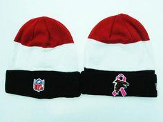Mens Womens Atlanta Falcons New Era 2016 NFL BCA(Breast Cancer Awareness) Crucial  Catch Knit Beanie Hat e7b197a4e